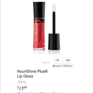 Mary Gay NouriShine Plus Lip Gloss Rock 'n Red